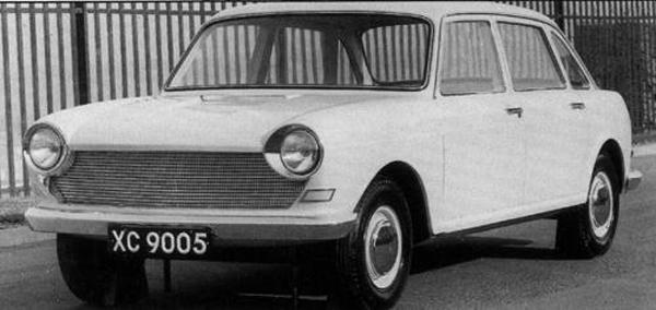 And here it is, the final version of the XC9005, pictured in March 1962. As is very evident, the style is a yet further refined version of the 1958 Landcrab, but with a far more stylish front end. This more stylised grille arrangement would later be employed (in a modified form) on the Mk II version of the Austin and Morris incarnations of the ADO16.
