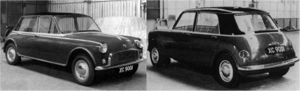 Once Mini development was all but finished, Issigonis turned his attention back to the larger car in 1958. This version of the car was now called the XC9001 and following the work on the Mini, had now become a front wheel drive car – styling still bore a similarity to the Mini/XC9000, but this was probably an expression of Issigonis