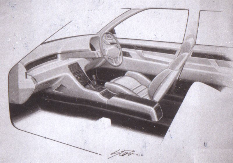 Advanced and sporting looking interior.