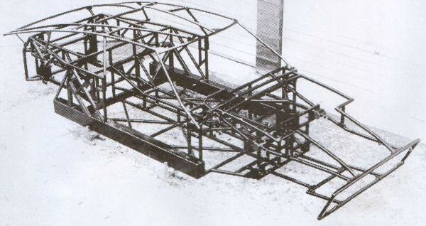 The complex bird-cage chassis...