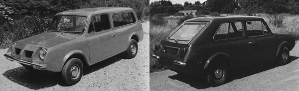 These Mini-based prototypes were built by Marcos in 1969, but the project was cancelled before it reached fruition.