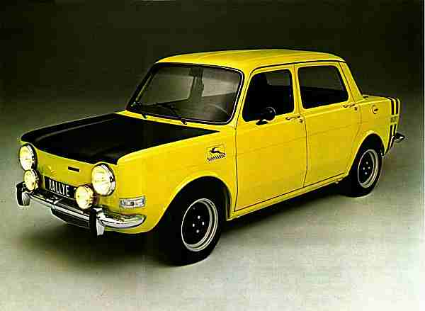 France's Mini-Cooper... not. But the SIMCA 1000 Rallye enyoyed a long and successful run, and at the end of its life, it could outrun the recently launched Volkswagen Golf GTi and Opel Kadett GT/E.