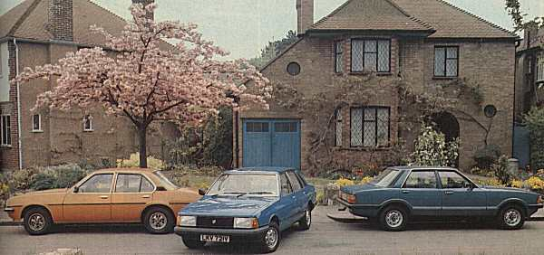 "...and here are the two cars that the Talbot Solara had to beat: the Ford Cortina and Vauxhall Cavalier. The Solara looked more contemporary, and offered advantages over its established rivals, but its tappety engine and hit-and-miss marketing campaign meant that with the Solara, Talbot still did not have the armoury to break the stranglehold of the established ""big two"". (Photograph: WHAT CAR? magazine)"