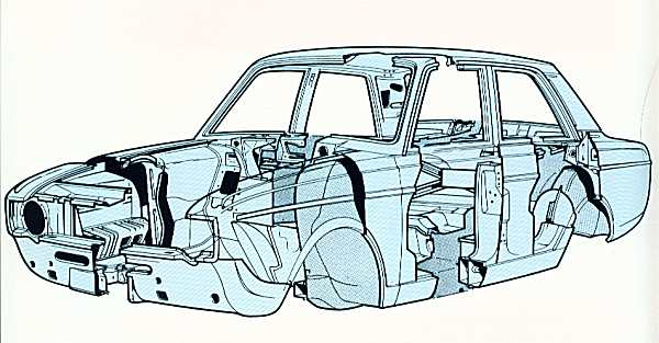 The Arrow monocoque was around 70kg lighter than the Super Minx, with an overall weight of 262kg. Structural rigidity was 4650 lb ft/deg, which was not bad for a 1966 four-door saloon. The body structure was built by Pressed Steel Fisher Ltd., and was comprised of seven separate sub-assemblies. (Picture: Style Auto)