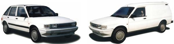 QE6400 hatchback and QE6440 van side-by-side  only minor cosmetic differences between these and the Cowley-built versions: notably, the hatchback's lack of black paint on the door frames, and the van's good-looking plastic front bumper.