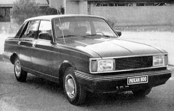 Facelifted Paykan was treated to the Morris Ital school of updating, although the full-depth front bumper did not seem to fit too well on this late model...
