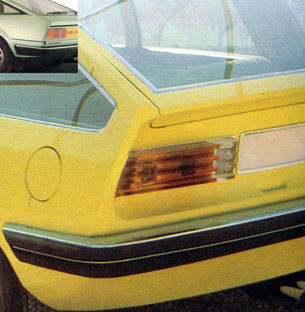 The rear lights are also frighteningly similar - The Pininfarina design even featured &quot;ribbed&quot; lenses...