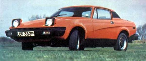 TR7 as it appeared at launch time in the UK... styling was best described as controversial, and one aspect that grated with many enthusiasts was the ride height. This was a side effect of Spen King's practice of giving his car long suspension travel.