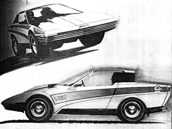 Early Harris Mann styling sketch shows that the TR7s essential character made it through to production, although the final result was somewhat watered-down from this bold proposal.