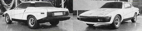 1971 and the Triumph TR7 styling is almost finalised. Impact absorbing bumpers are incorporated and compared with the styling of the earlier Bullet proposal, looks good while managing to integrate the monolithic US-style bumpers, and this model does without the targa roof of the earlier car. This particular clay model sports the &quot;MG Magna&quot; badge, but in reality, thanks to the way the sports car plan shook out, the MG TR7 was never much more than a pipedream - at this stage.