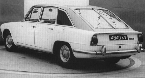 The fastback under construction - a double-sided scheme at this time.