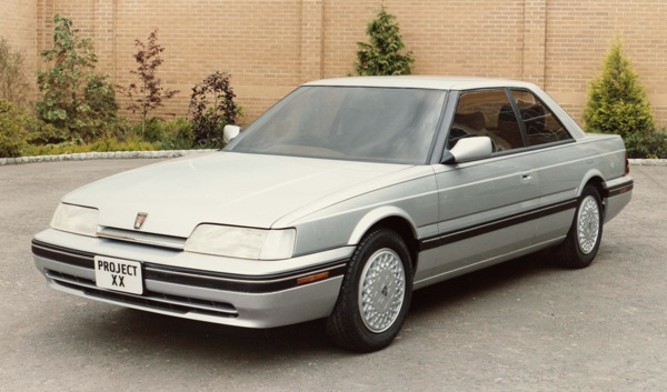 Coupe or saloon? Early thoughts on the Rover 800 Coupe centred on producing a two-door saloon, which would have appealed to the US market  the car's main target area.