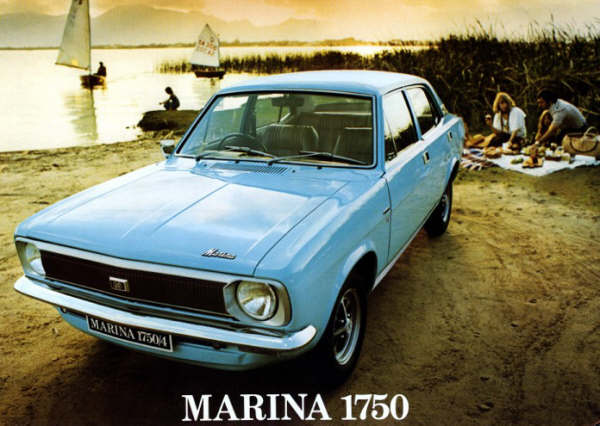 This Marina 1750 is actually a South African-spec model, but as this was built from Australian tooling, it was in effect, the same car...