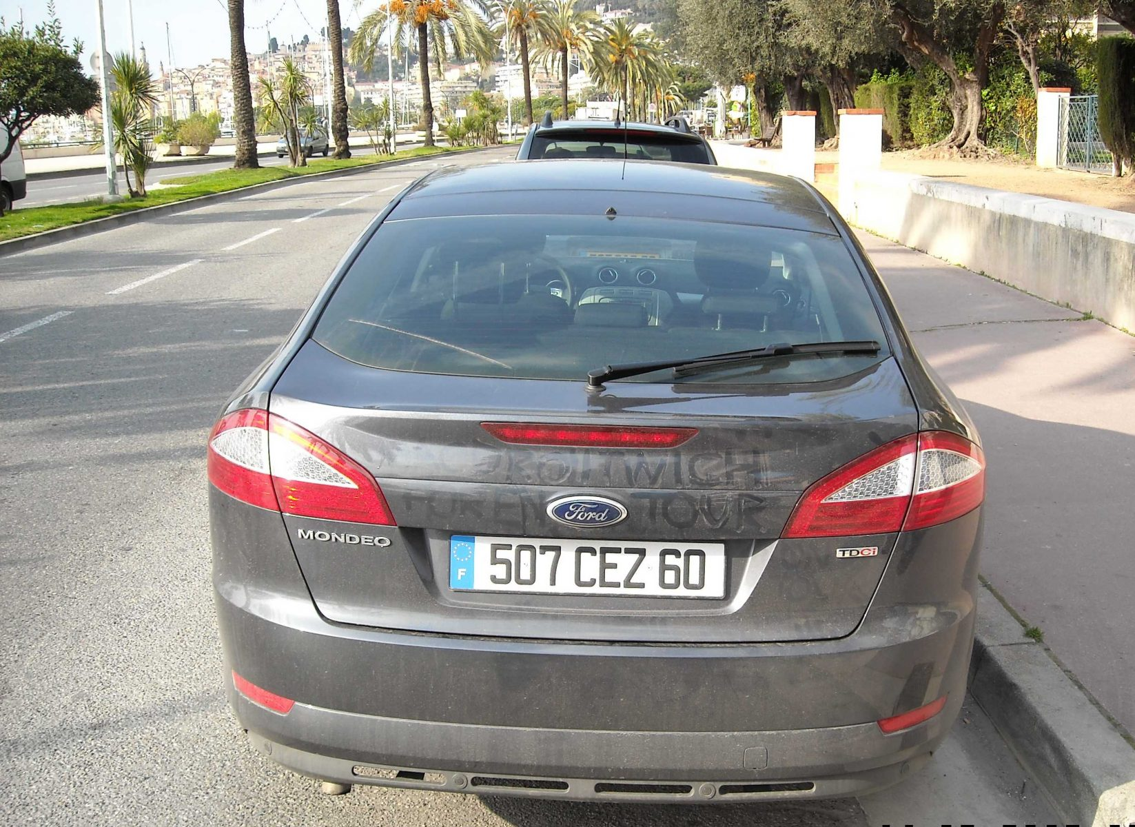 Our Mondeo in Menton, ready for some Cote d'Azur fun