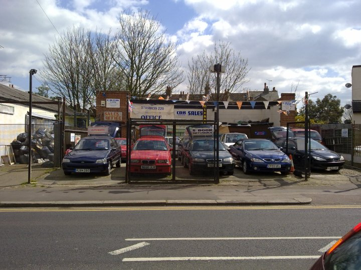 An Essex dealership,  yesterday. This one had a Bedford Midi and Fiat Amigo on offer...