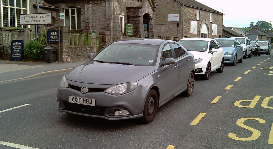 MG6 front-end styling combines well with saloon rear
