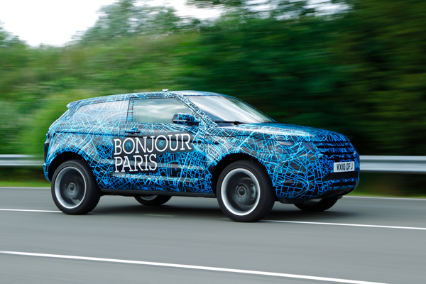 Range Rover's new Evoque - the final phase of testing has started