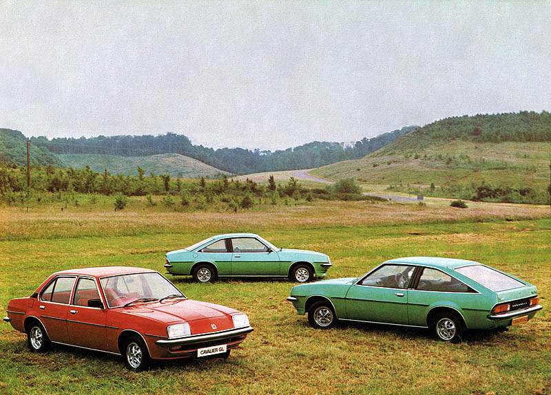 The 1979 Vauxhall Cavalier range: saloon, Coupe and Sportshatch.