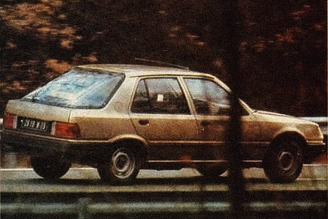 Talbot Arizona (nee C28 project) caught testing in 1984. At the time, it still wasn't clear if it was going to be badged a Talbot or a Peugeot.