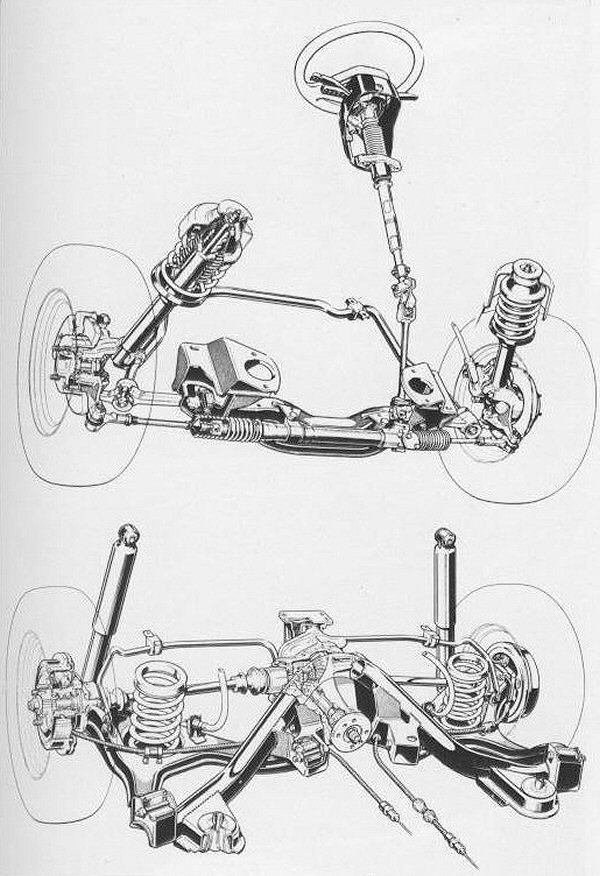 Independent front and rear suspension were a class novelty.