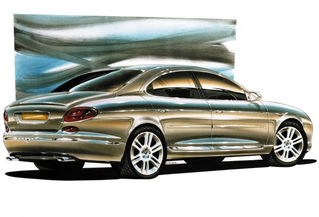 Jaguar X400 design sketch