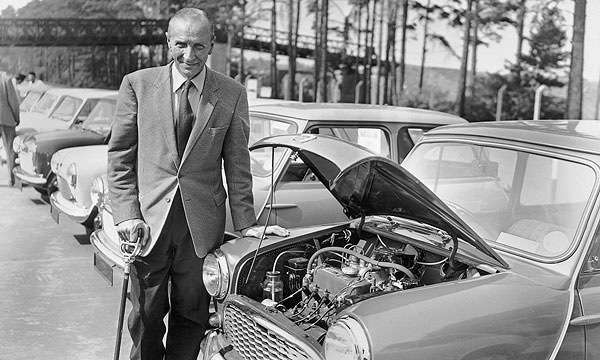 Sir Alec in happier times during the launch of the Mini in 1959