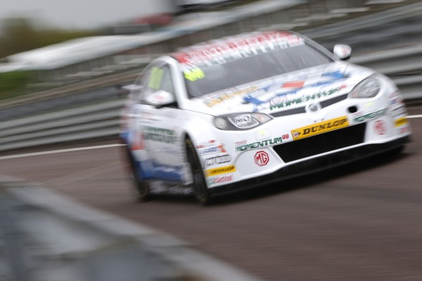 MG KX Momentum Racing's Sam Tordoff during Free Practice 1 at Thruxton