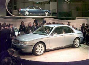 Rover 75 launch