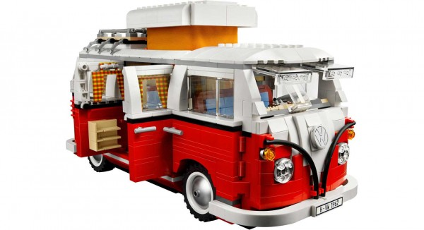 Charlton Mackerell would love the Lego VW Camper - as it's easy to smash to bits...