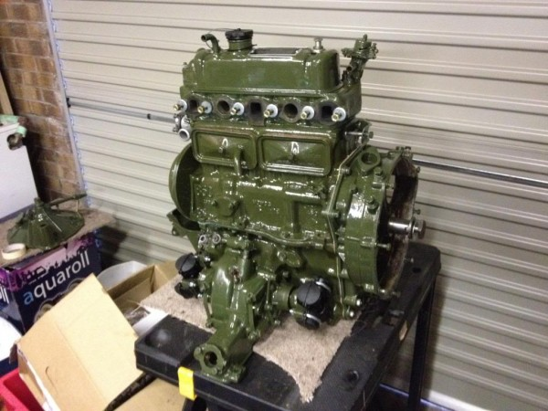 Gavin rebuilt the engine at home - with a clear attention to detail.