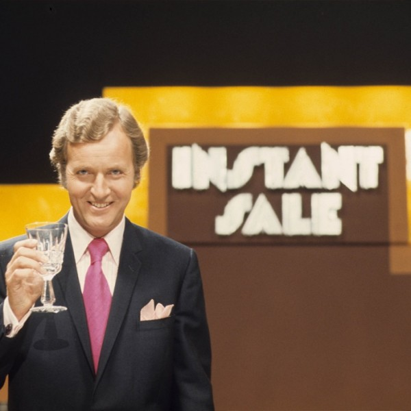 All of us at AROnline - and a sinister looking Nicholas Parsons - raise a glass to you all for best health and wishes for 2015 (Pic: Peter Hardie/Anglia Television)