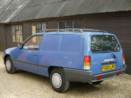 Early Astravans were, of course, Bedfords, but became Vauxhalls in 1991