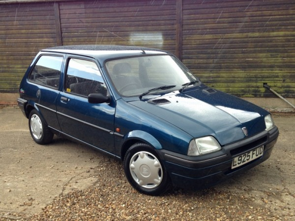 One exceptionally clean and tidy Rover Metro - once a sight on every street corner, but sadly no longer