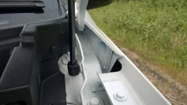 The exterior fit and finish is fine and the paintwork looks as deep as a lake but this nearly made me fall overspray, gaffer tape and expanding sealant. This wouldnt have been acceptable on a 1990 Lada Riva let alone a current 18 grand motor car.