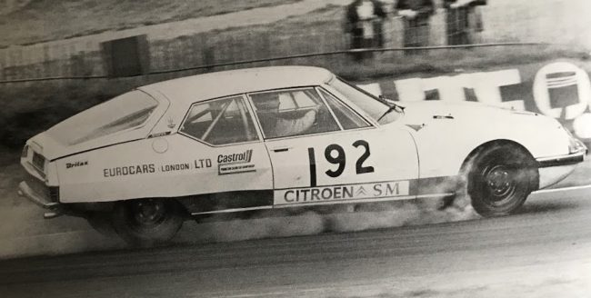 Citroen SM wasn't a success on the Avon Tour of Britain, with Ray Hutton and Howden Ganley sharing driving duties.