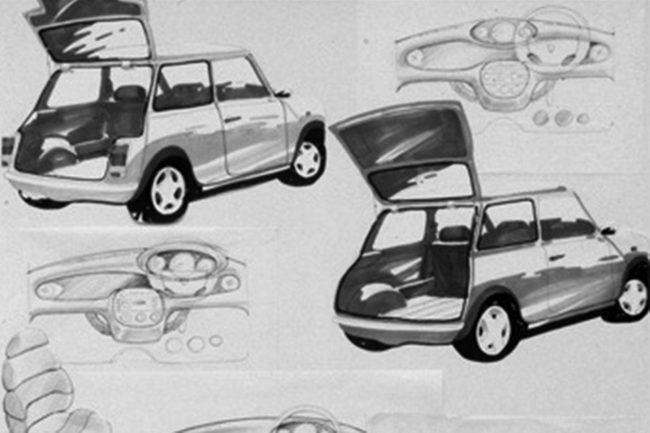 Rover Minki 1 and 2: The Mini shape lends itself well to a hatchback rear end, as these images prove.
