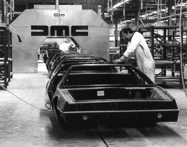 DeLorean production in Dunmurry