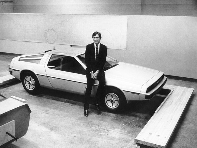 John Z DeLorean with the original DSV-1 prototype